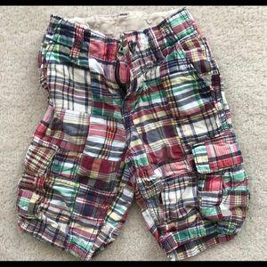 Gap boys madras plaid shorts size 6 slim